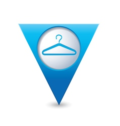 Clothers hanger icon pointer blue vector