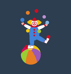 clown juggler vector image