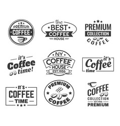 coffee beans as logo sign for shop or store vector image