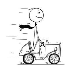 Conceptual cartoon of business success vector