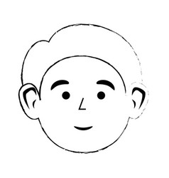 cute adult face vector image