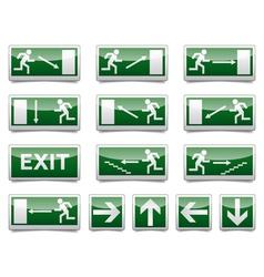 Danger exit warning sign vector