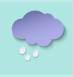 dark paper cut cloud and hail 3d art style vector image