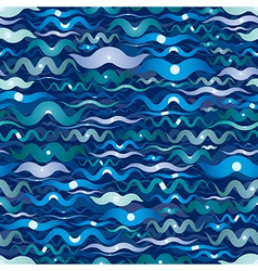 Dark Wave Seamless Pattern vector image