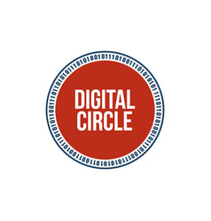 digital circle digital technology background vector image
