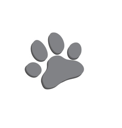 Dog paw icon of dog vector