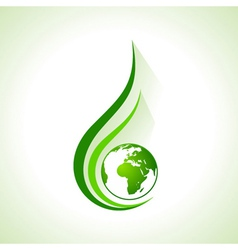 Ecology concept icon with earth vector