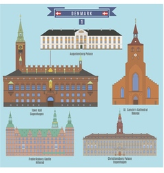 Famous Places in Denmark vector image