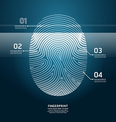 Fingerprint scan vector
