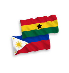 Flags ghana and philippines on a white vector
