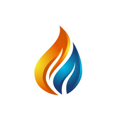 flame and water logo vector image