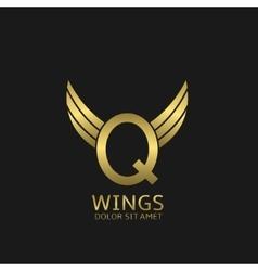 Golden Q letter logo vector image