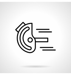 Goniometer black line icon vector