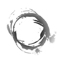 Halftone coffee spot vector image