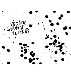 handdrawn grunge texture abstract ink drops vector image