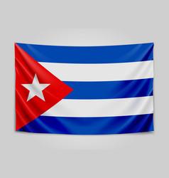 Hanging flag of cuba republic of cuba cuban vector