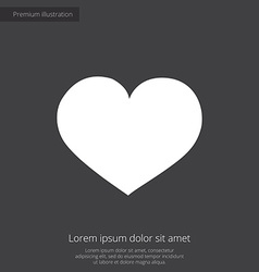 heart premium icon white on dark background vector image