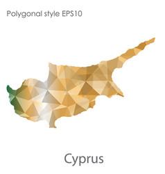 Isolated icon cyprus map polygonal geometric vector