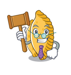 Judge pastel mascot cartoon style vector