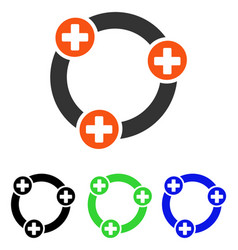 Medical collaboration flat icon vector