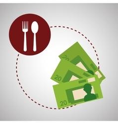 Menu design bills icon restaurant concept vector image