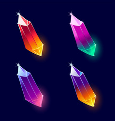 Mineral crystals vector
