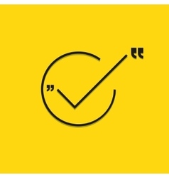 Modern black check mark on yellow vector