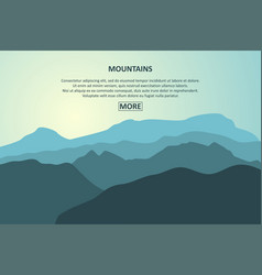 Mountains journey page vector