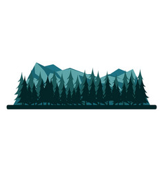 Nature mountains landscape rocky mountains and vector