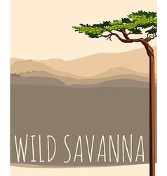 Nature scene with wild savanna vector image