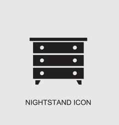 Nightstand icon vector