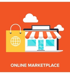 Online Marketplace vector image