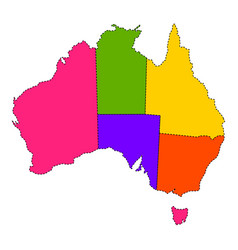 Political map of australia vector
