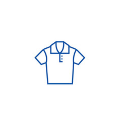 polo shirt line icon concept polo shirt flat vector image