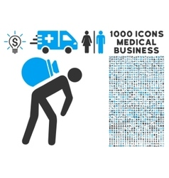 Porter Icon with 1000 Medical Business Pictograms vector image