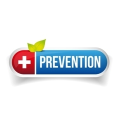 Prevention button icon vector image