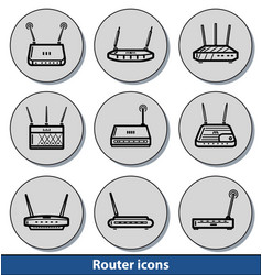 router light icons vector image
