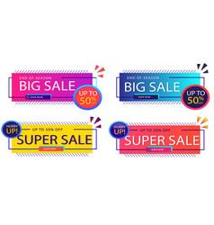 Sales banner template vector