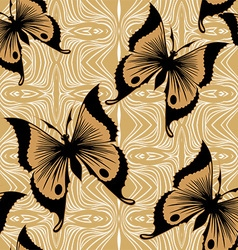 Seamless Butterfly Wallpaper vector