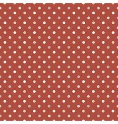 seamless vintage polka dot vector image