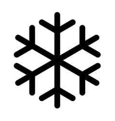 snowflake made of black lines one on a white vector image