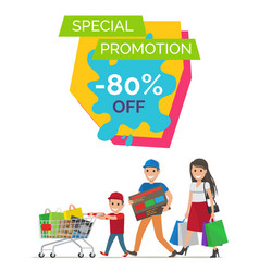 special promotion -80 banner vector image