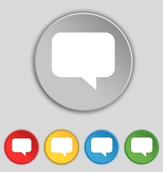 Speech bubble Chat think icon sign Symbol on five vector