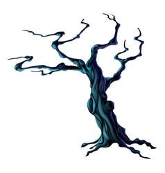 Spooky halloween tree vector