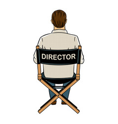Stage director on set pop art vector