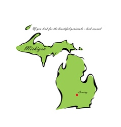 State of Michigan vector