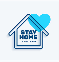stay at home stay safe concept background vector image