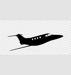 sticker to car silhouette airplane profession vector image