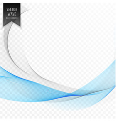 stylish blue wave shape background vector image