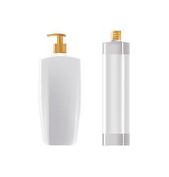 Template of cream in bottle dispenser spray in vector